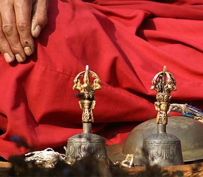Cloches tibétaines pour les rituels
