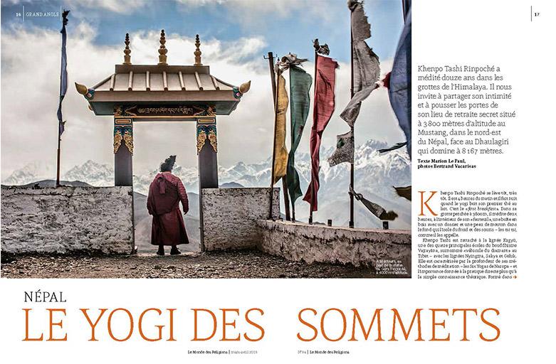 Presse – Le Monde des Religions – Le Yogi des Sommets – mars avril 2019